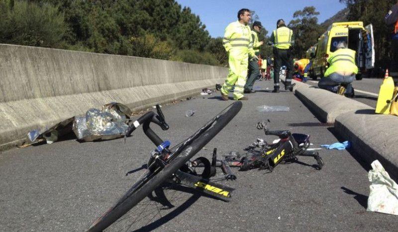Un ciclista muere atropellado en presencia de su hijo por un conductor que se dio a la fuga