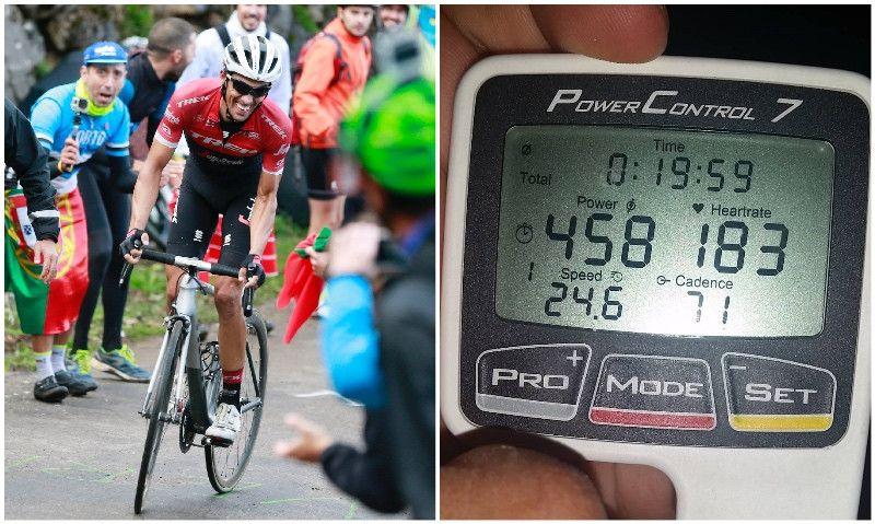 """El """"secreto"""" de Contador: ¿Qué potencia hay que mover en un test de 20' para ganar el Tour?"""