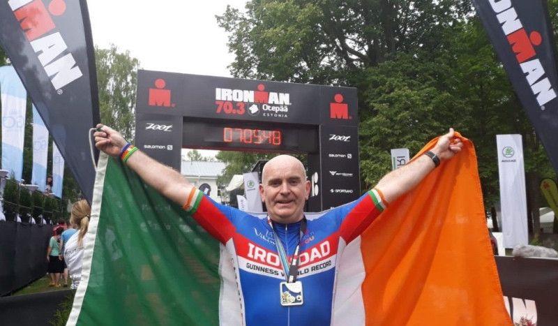 Un irlandés bate el Récord Guinness de pruebas 70.3 completadas en un año