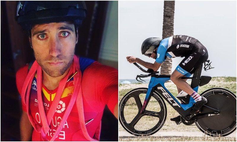 Dos pinchazos dejan a Emilio Aguayo fuera del Mundial de Larga Distancia