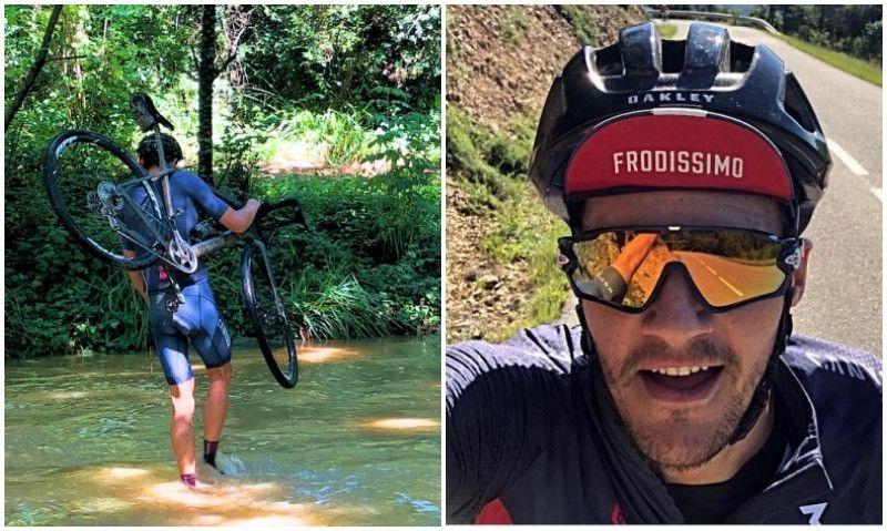 ¿Qué hace Jan Frodeno cruzando un río con la bici al hombro?