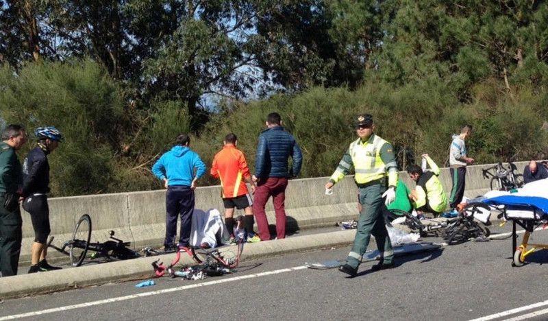 Un año y nueve meses de cárcel por arrollar ebrio a ocho ciclistas y huir