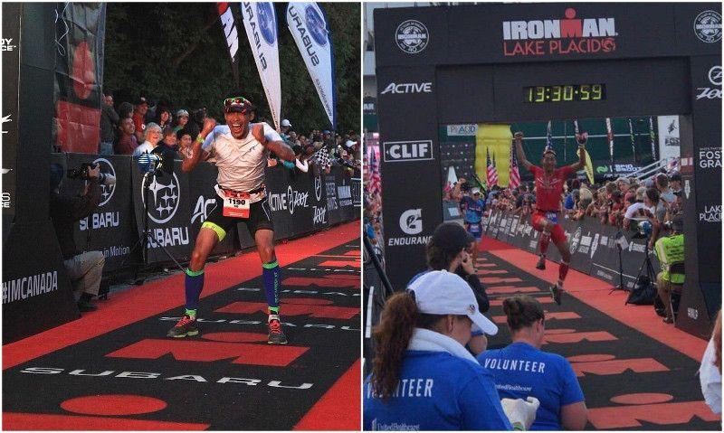 (VÍDEO) ¡Un triatleta se rompe el tobillo al saltar de alegría en la meta de un Ironman!