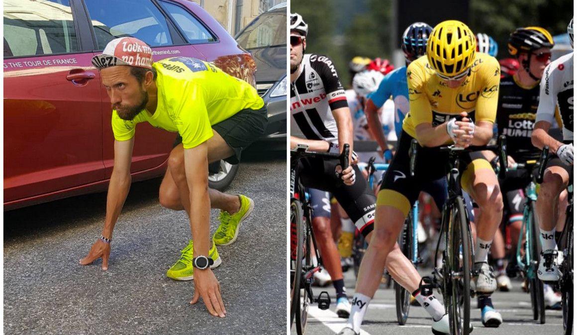 Completa el Tour de Francia... ¡corriendo!