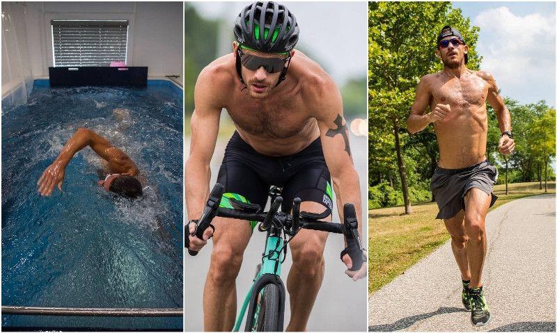(VÍDEO) El menú del día de Sanders: 4.200 de natación 'fácil', técnica de bici y series a pie