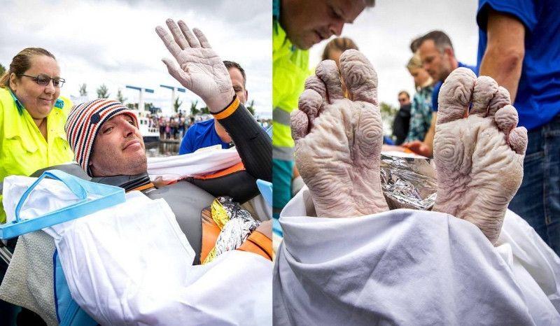 Maarten Van der Weijden nada 163 km sin descanso para luchar contra el cáncer