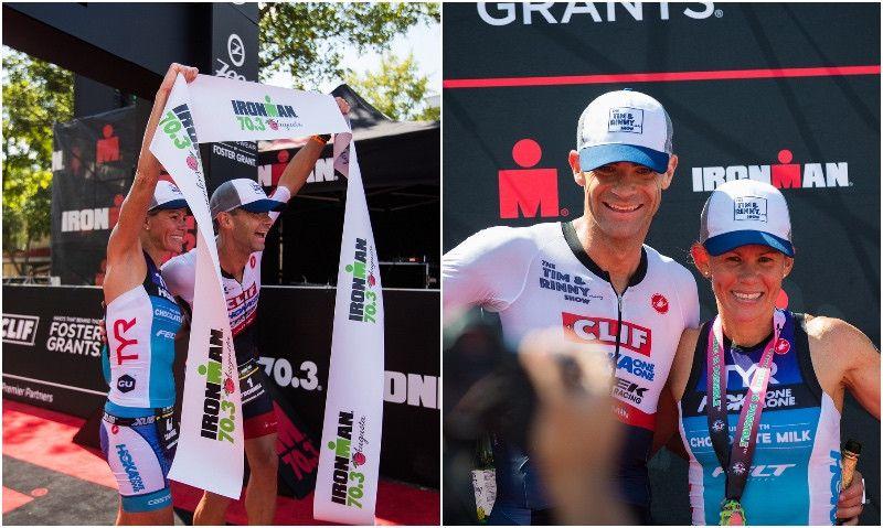 El matrimonio Carfrae-O'Donnell arrasa en el Ironman 70.3 de Augusta