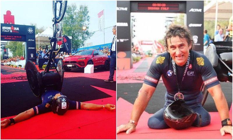 Otra proeza de Zanardi: 5º mejor tiempo en el Ironman de Italia y ¡récord del mundo!