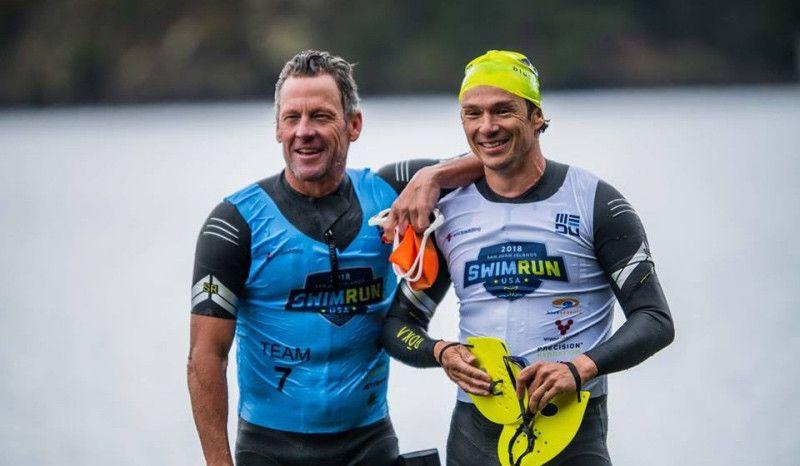 Armstrong y Whitfield: 6 horas de esfuerzo y medalla de bronce en un SwimRun