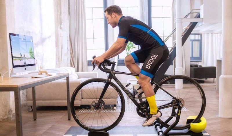 Entrenando en el duro circuito del Challenge de Madrid... sin salir de casa