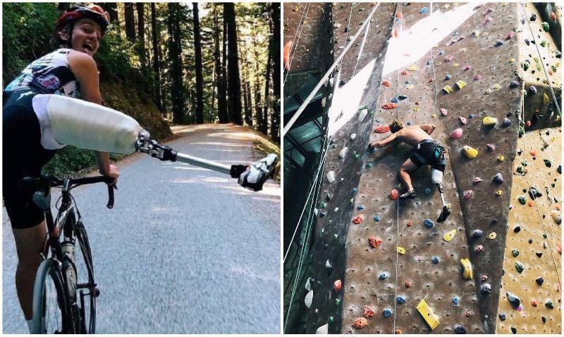 El joven Adrien Costa vuelve a subirse a la bici y a escalar tras perder una pierna