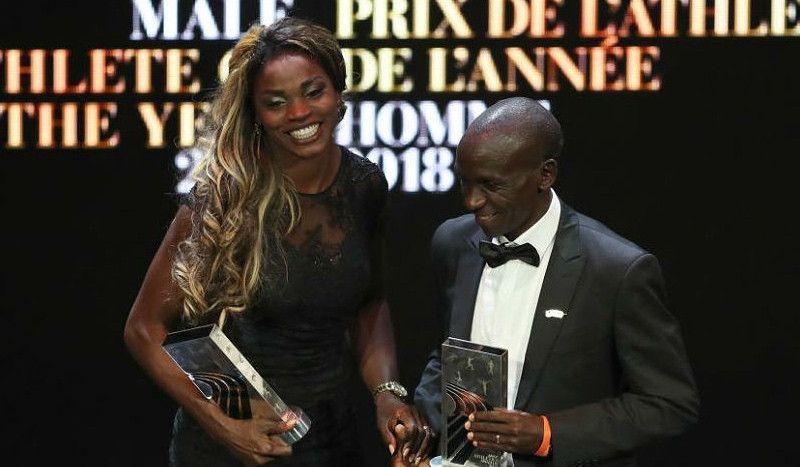 Eliud Kipchoge y Caterine Ibargüen, mejores atletas mundiales del año