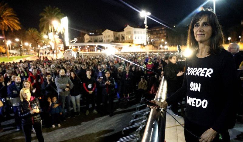 Cientos de corredores y corredoras homenajean a Laura Luelmo en Bilbao