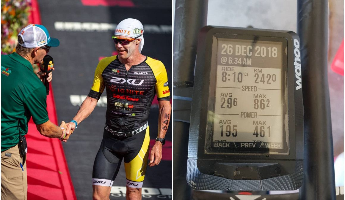 El incombustible Cameron Brown (46 años) hace el entreno más largo de su vida