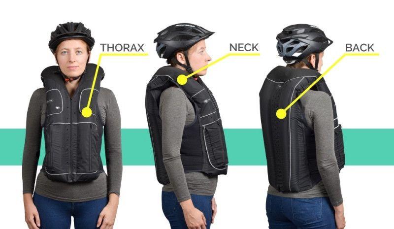 Así es el airbag que protege a los ciclistas en caso de accidente