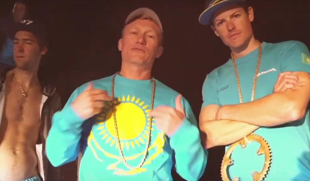 (VÍDEO) ¿Has visto ya el rap que se ha marcado Vinokourov y todo el Astana?