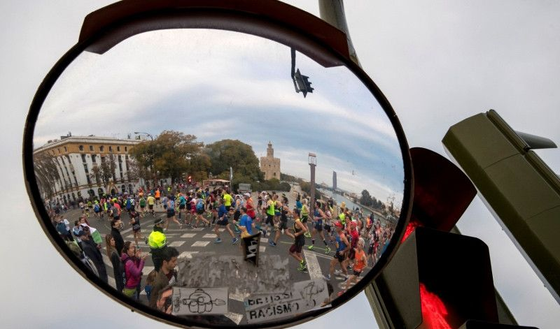 Con tan sólo 33 curvas, el Maratón de Sevilla presenta un recorrido más rápido