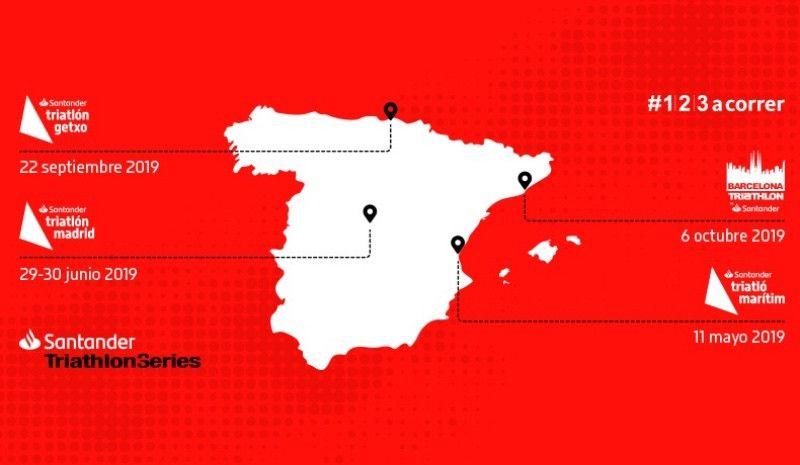 Cuatro sedes para las Santander Triathlon Series 2019