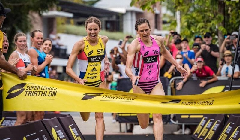 Vincent Luis y Katie Zaferes, campeones de la Super League Triathlon