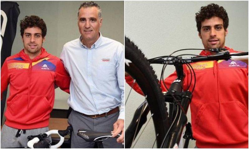 Kevin Viñuela por fin tiene sus dos bicis... gracias al hermano de Indurain