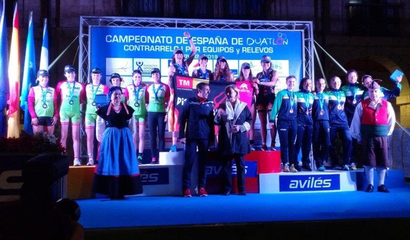 Diablillos Rivas y Ascentium Araba Tri, campeones de España de Duatlón CRE