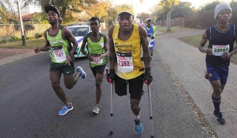 (VÍDEO) Xolani Luvuno no tiene límites: así se enfrentó al Ironman de Sudáfrica