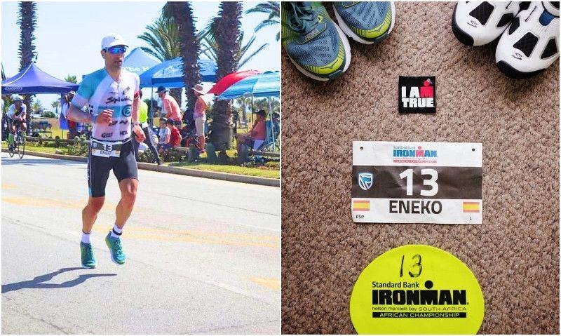 """Los datos de """"récord"""" de Eneko Llanos en el Ironman de Sudáfrica"""