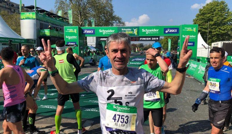 Martín Fiz pulveriza el récord de España M55 en el maratón de París