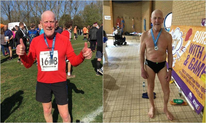 Tiene casi 80 años; lleva 17 luchando contra el cáncer... y sigue haciendo triatlón