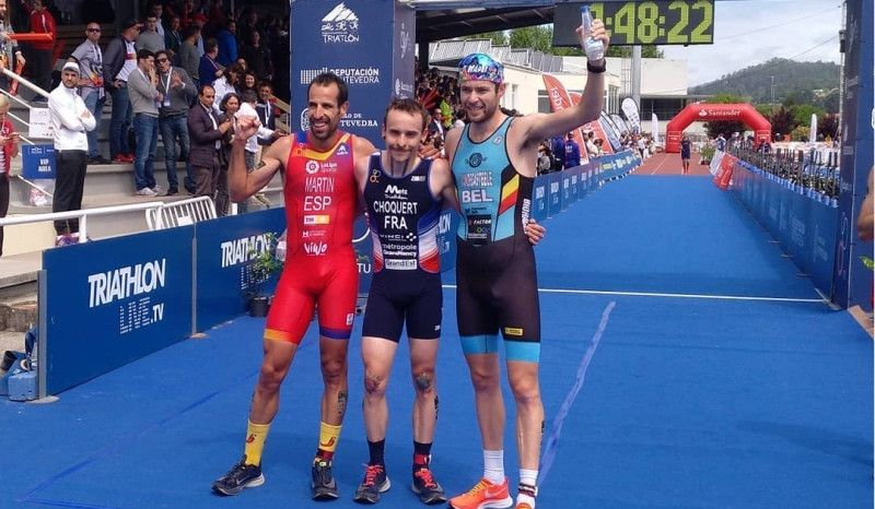 Emilio Martín conquista otra plata en un final apoteósico en el Mundial de Duatlón de Pontevedra