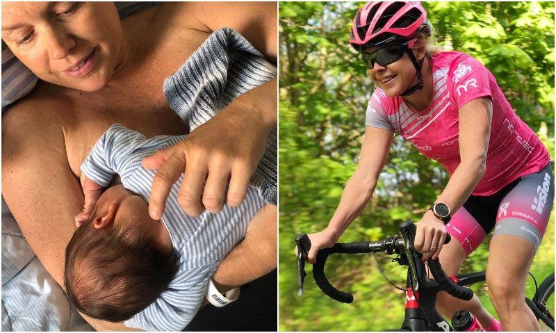 Michelle Vesterby vuelve a los entrenamientos ¡12 días después de dar a luz!