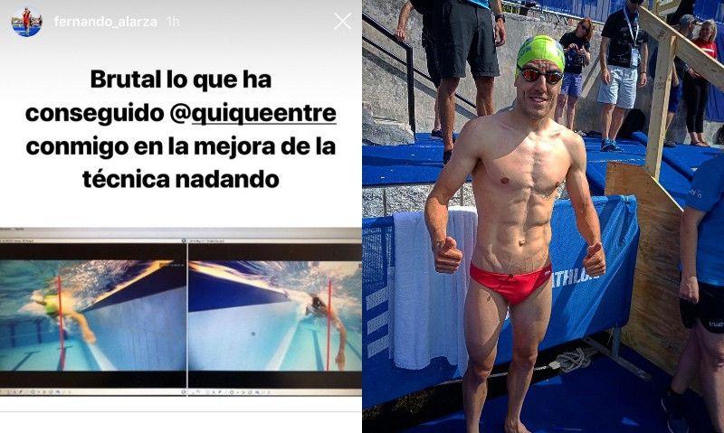 """La """"brutal"""" mejora de Fernando Alarza en su técnica de natación"""