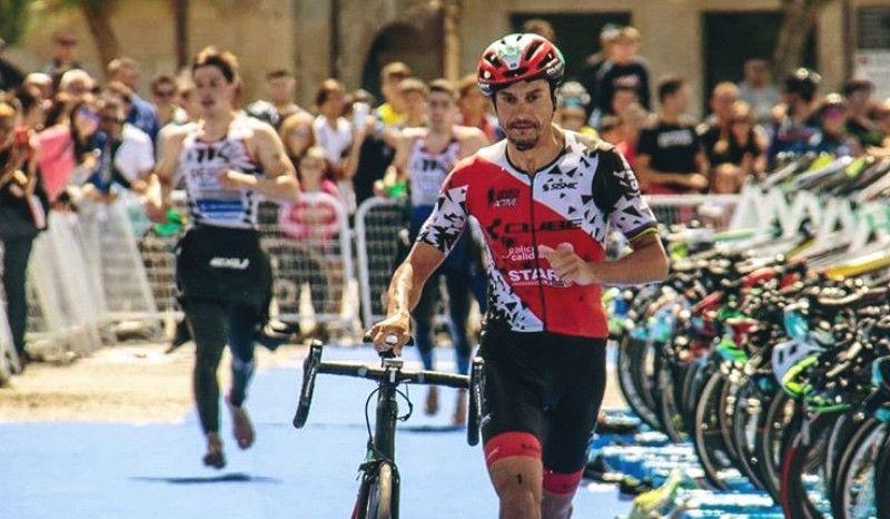 Fin de semana 'completito' de Raña: victoria en un triatlón sprint y plata en una carrera de ciclismo