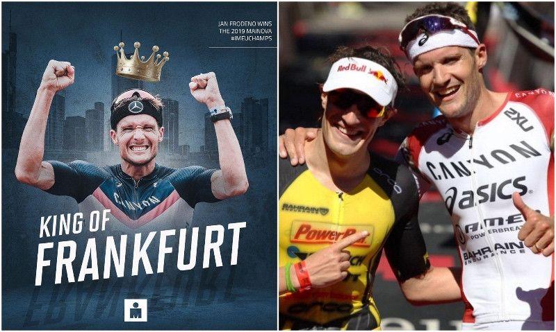 (VÍDEO) El gesto para enmarcar de Frodeno con Kienle en el Ironman de Frankfurt