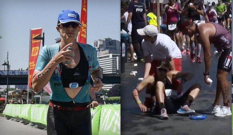 (VÍDEO) El colapso de Sarah True a un km de la victoria en el Ironman de Frankfurt