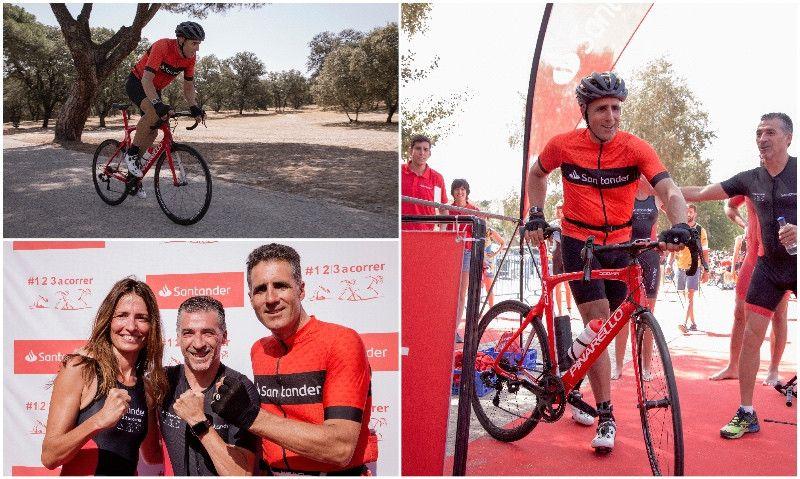 Miguel Indurain, 'triatleta' contra la ELA en el Santander Triatlón de Madrid