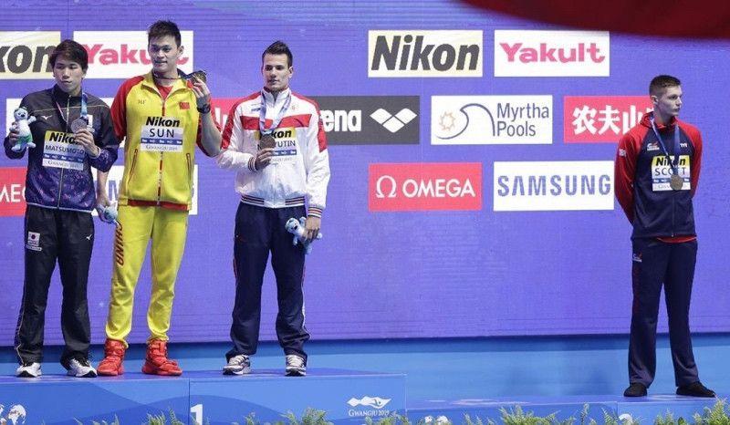 Otro 'show' de Sun Yang: increpa a un rival y se encara con el público
