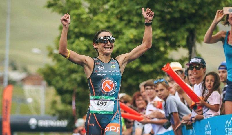 Anna Noguera gana el Duatlón Alpe d'Huez