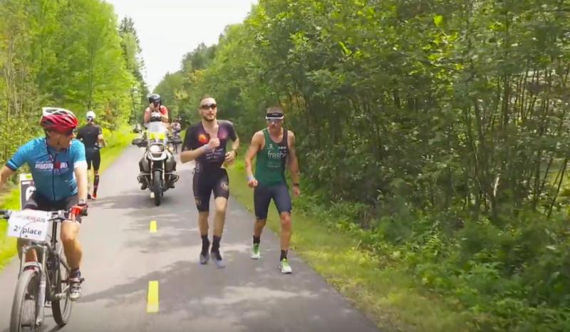 (VÍDEO) Así fue la pasada de Cody Beals a Lionel Sanders en el Ironman Mont-Tremblant