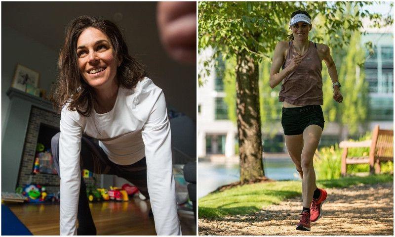 (VÍDEO) Gwen Jorgensen: rutina de ejercicios en casa antes de salir a correr