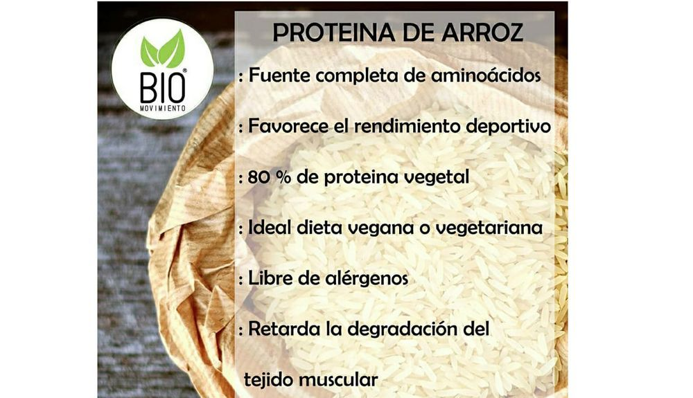 Beneficios de la proteína de arroz movimientoBIO