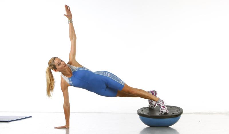 Bosu ejercicios abdominales