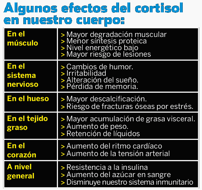 aumento de peso con cortisol